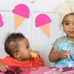 BABY FROZEN ELSA MAKES ICE CREAM PLAY-DOH 8
