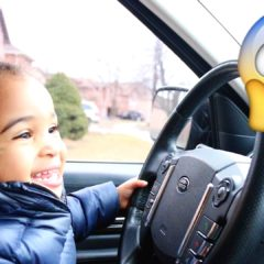 BABY DRIVING PARENTS CAR TO GROCERY STORE 3