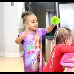 BAD BABY SAMIA POURS MILK ON BROTHER 3