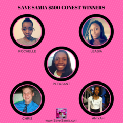 HERE ARE THE WINNERS OF THE SAVE SAMIA CONTEST! 1