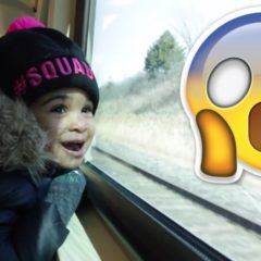 2 YEAR OLD TAKES TRAIN ALONE 😱 9