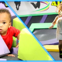 TODDLER TAKES BABY BROTHER TO TRAMPOLINE PARK 10