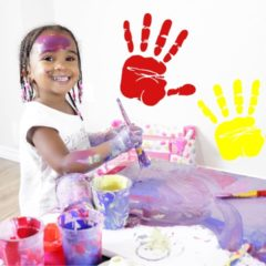 LEARN COLORS WITH FINGER PAINTS 5