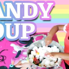 TODDLER MAKES CANDY SOUP 4