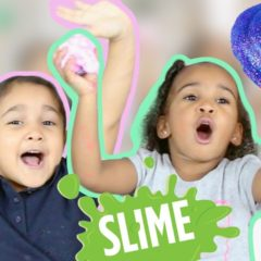 KIDS MAKING GOOEY SLIME