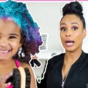 MOMMY DYES DAUGHTER'S HAIR PURPLE, PINK, AND BLUE