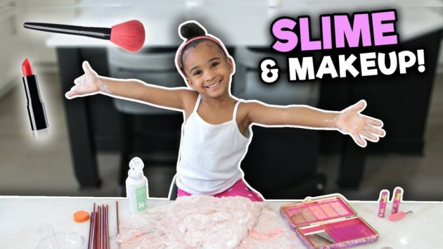 MIXING MAKEUP INTO SLIME 😜💄 1