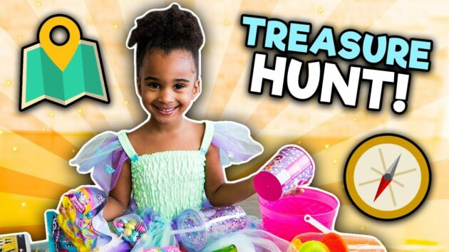 TREASURE HUNT CHALLENGE | INDOOR FUN GAME WITH SAMIA | KIDS PRIZE 1