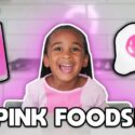 EATING ONLY PINK food for 24 HOURS CHALLENGE! 2