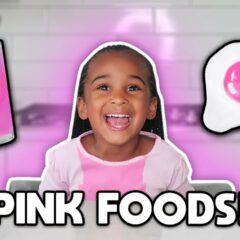 EATING ONLY PINK food for 24 HOURS CHALLENGE! 5