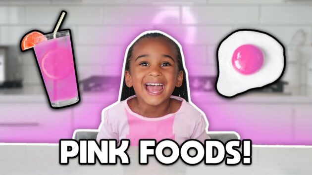 EATING ONLY PINK food for 24 HOURS CHALLENGE! 1