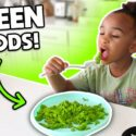 I Only Ate GREEN FOODS For 24 HOURS! 1