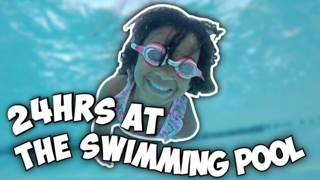 24 HOURS AT THE SWIMMING POOL CHALLENGE 1