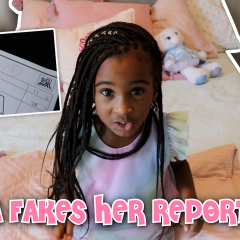 SAMIA FAKES HER REPORT CARD
