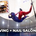 WE WENT SKYDIVING + NAIL SALON DATE!! 1